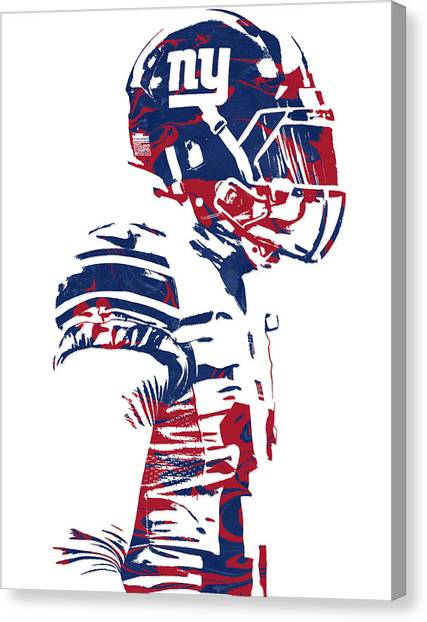 Odell Beckham Jr Canvas Print - Odell Beckham Jr New York Giants Pixel Art 4 by Joe Hamilton