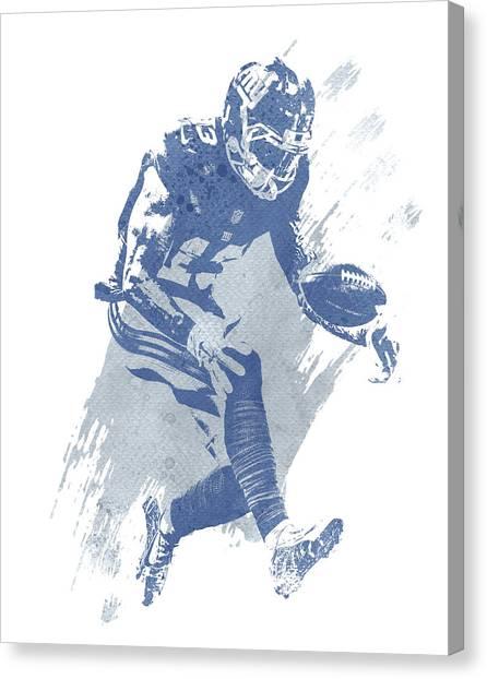Odell Beckham Jr Canvas Print - Odell Beckham Jr New York Giants Water Color Art 3 by Joe Hamilton