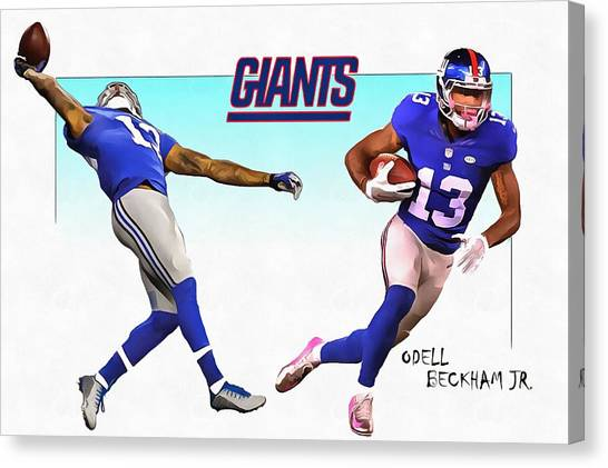 Odell Beckham Jr Canvas Print - Odell Beckham Jr. by Ramo Sabanovic