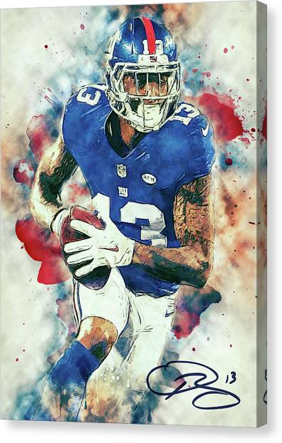 Houston Texans Canvas Print - Odell Beckham Jr. by Taylan Apukovska