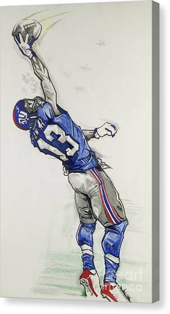 Odell Beckham Jr Canvas Print - Odell Beckham Jr The Catch by Gregory Taylor