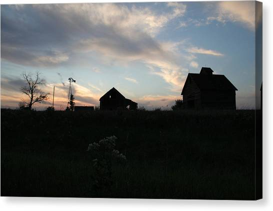 Canvas Print featuring the photograph Odell Dusk by Dylan Punke