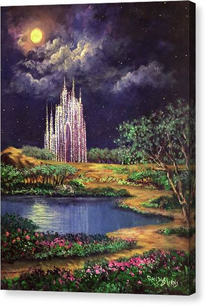 Of Glass Castles And Moonlight Canvas Print