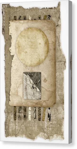 Torn Paper Collage Canvas Print - Of Time And Paper by Carol Leigh