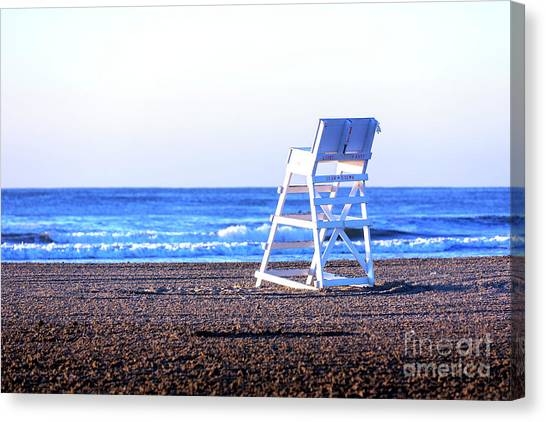Lifeguard Canvas Print - Off Duty At Wildwood by John Rizzuto