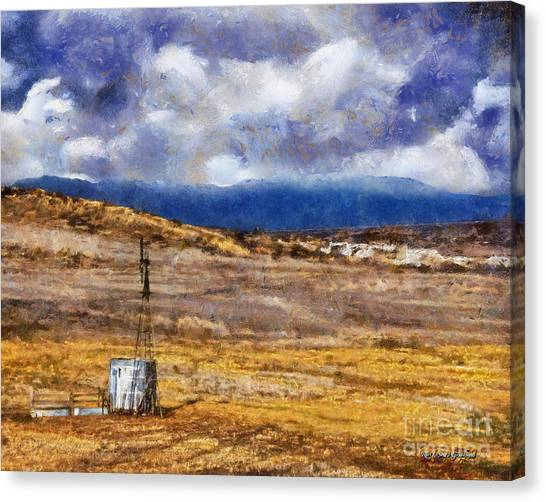 Canvas Print featuring the digital art Off The Beaten Path I by Rhonda Strickland