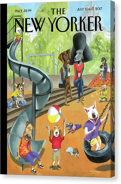 Off The Leash Canvas Print