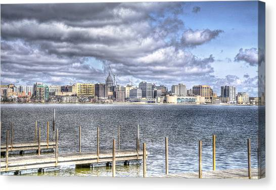 Off The Pier Canvas Print