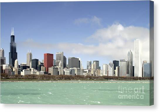 Off The Shore Of Chicago Canvas Print