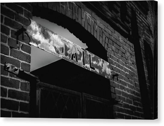 Canvas Print featuring the photograph Off To Jail by Doug Camara