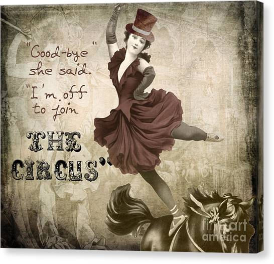 Join Canvas Print - Off To Join The Circus by Mindy Sommers