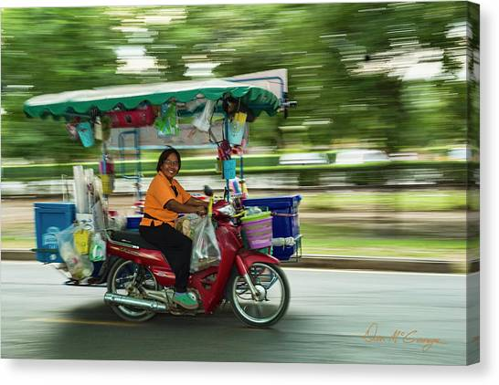 Canvas Print featuring the photograph Off To Work by Dan McGeorge