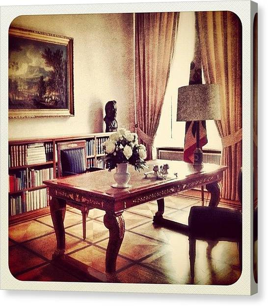 Berlin Canvas Print - Office Of The German President At by Cornelia Woerster