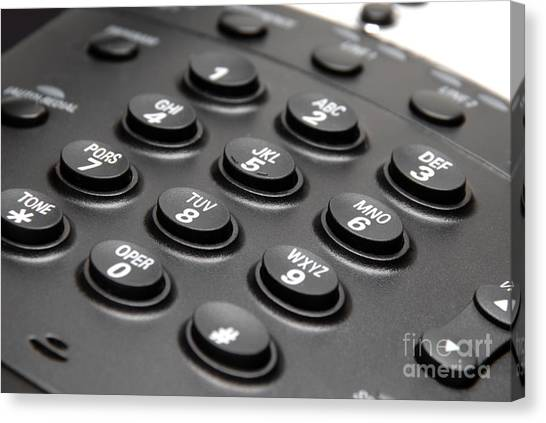 Keypad Canvas Print - Office Phone Keypad Picture by Paul Velgos
