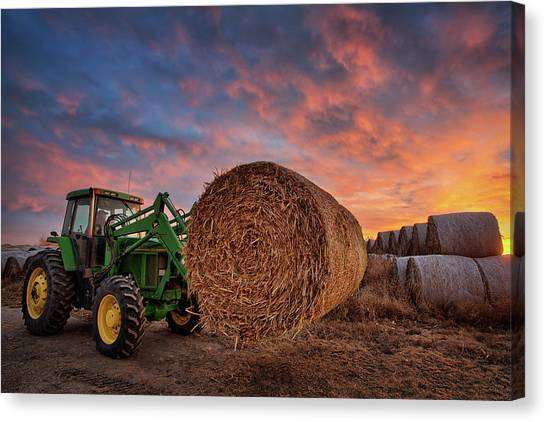 John Deere Canvas Print - Office Space by Thomas Zimmerman