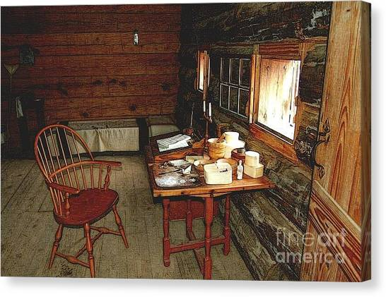 Officers Quarters Fort Stanwix Canvas Print by Diane E Berry