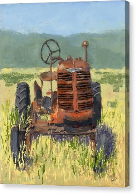 Offset High Crop Canvas Print