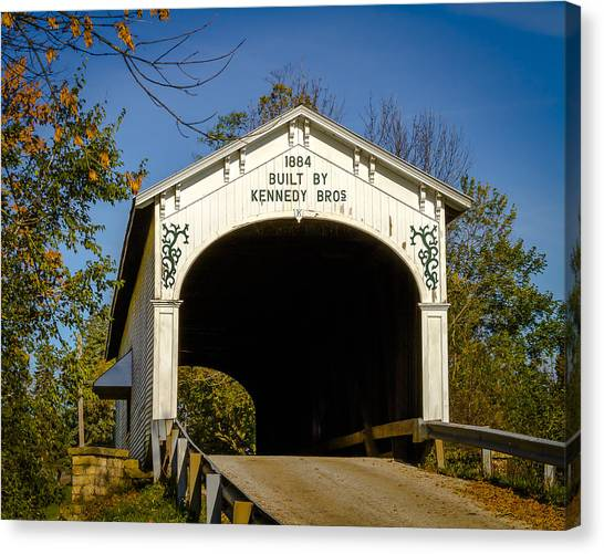 Offutt's Ford Covered Bridge Canvas Print