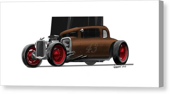 Og Hot Rod Canvas Print by Jeremy Lacy
