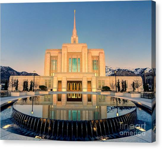Ogden Lds Temple Canvas Print