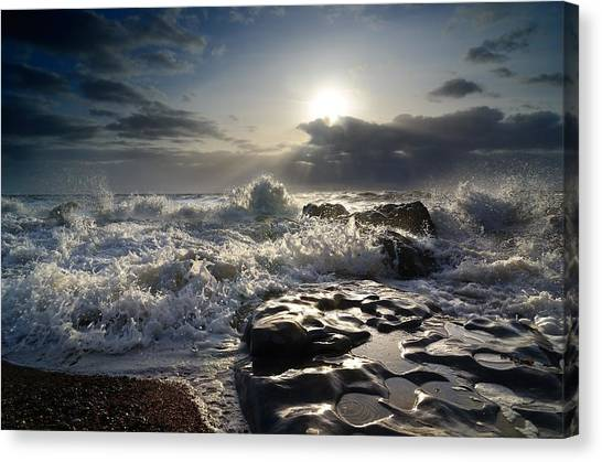 Ogmore By Sea Canvas Print