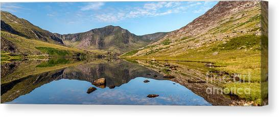 Tryfan Mountain Canvas Print - Ogwen Lake Reflections by Adrian Evans