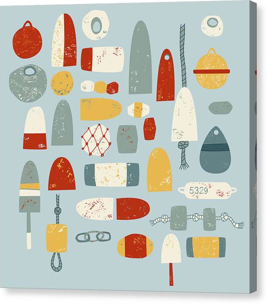 Boat Canvas Print - Oh Buoy by Nic Squirrell