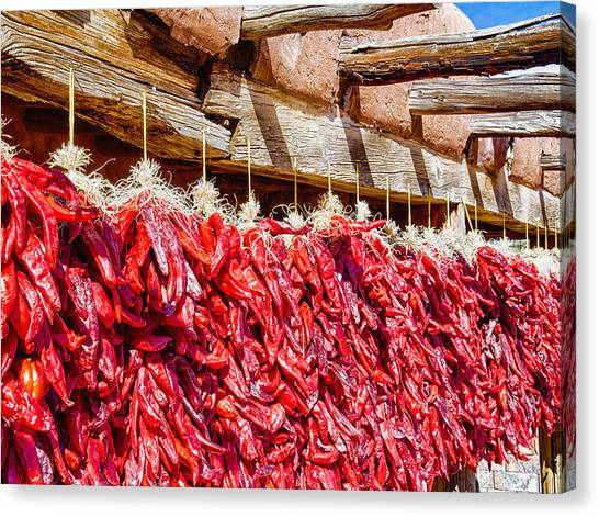 Canvas Print featuring the photograph Oh Chiles by Daniel George