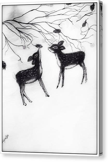 Simplistic Canvas Print - Oh Deer Me by Debra Lynch
