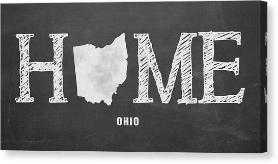 Ohio University Canvas Print - Oh Home by Nancy Ingersoll