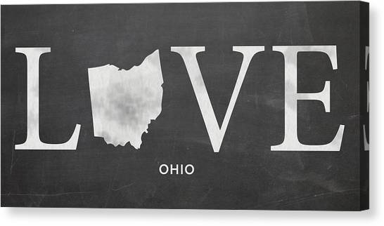 University Of Cincinnati Canvas Print - Oh Love by Nancy Ingersoll
