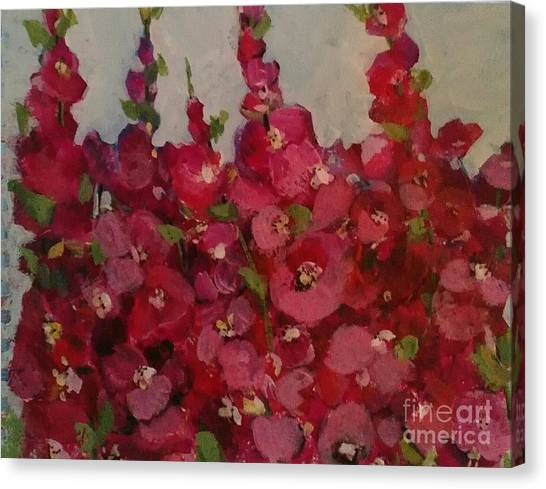 Oh My Hollyhocks Canvas Print