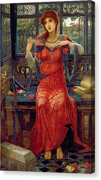 Pre-modern Art Canvas Print - Oh Swallow Swallow by John Melhuish Strudwick