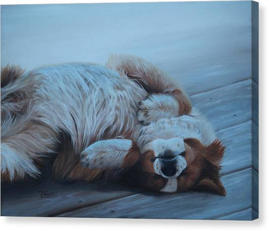 Dog Gone Tired Canvas Print