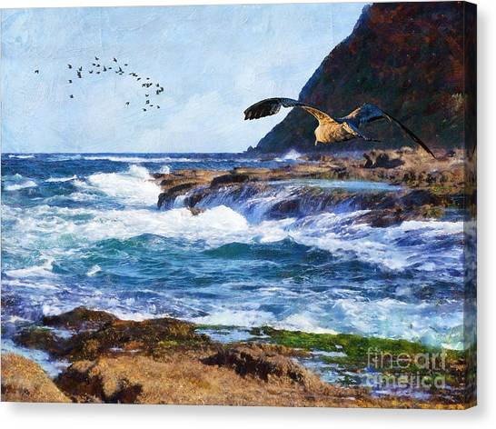 Canvas Print - Oh The Wind And The Waves by Lianne Schneider