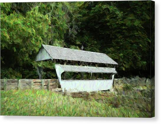 Ohio Canvas Print - Ohio Covered Bridge by Tom Mc Nemar