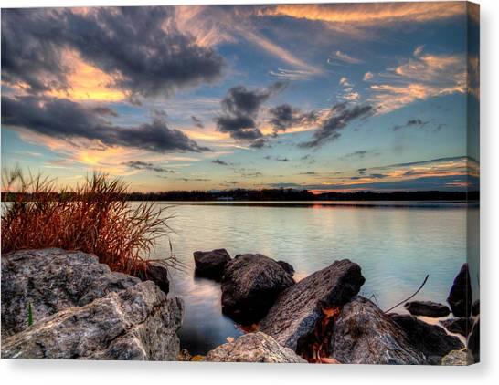 Ohio Fall Sunset Canvas Print
