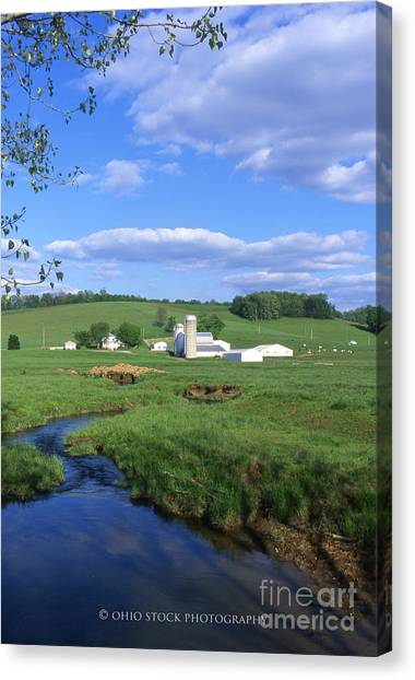 3d203 Ohio Farm Photo Canvas Print