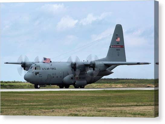 National Guard Canvas Print - Ohio Herc by Peter Chilelli