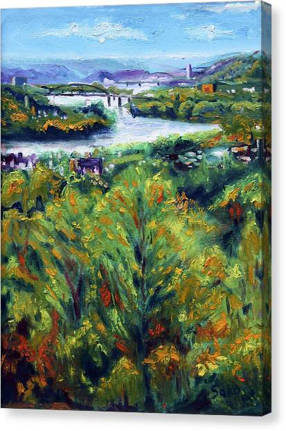 Ohio Valley Canvas Print - Ohio River From Ayers-limestone Road by Robert Sako