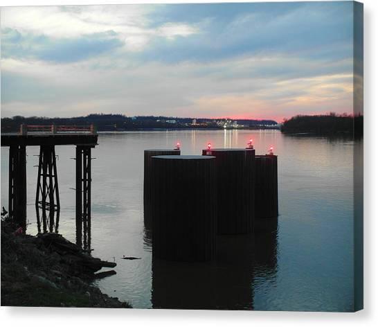Ohio River View Canvas Print