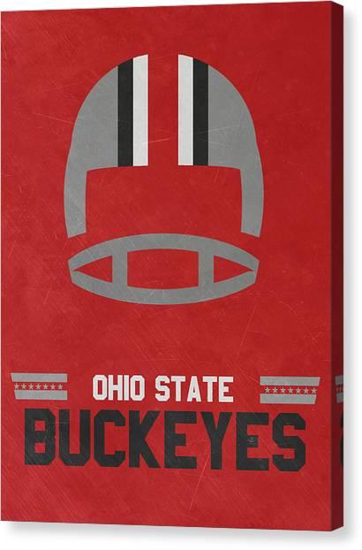 Ohio State University Canvas Print - Ohio State Buckeyes Vintage Football Art by Joe Hamilton