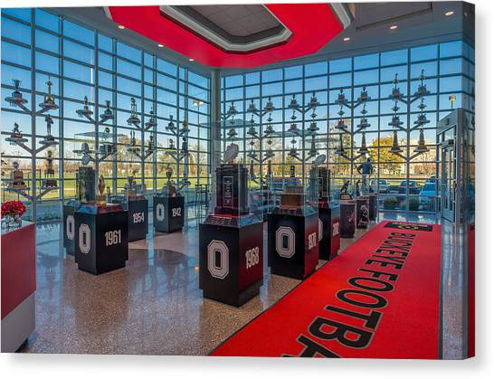 Ohio State University Canvas Print - Ohio State Football Trophy Collection by Scott McGuire
