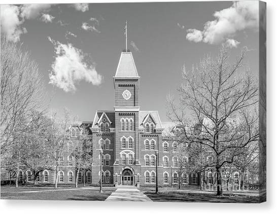 Graduate Degree Canvas Print - Ohio State University Hall Horizontal by University Icons