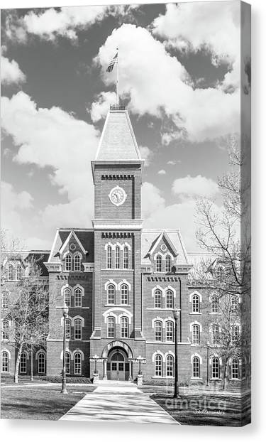 Ohio State University Canvas Print - Ohio State University Hall by University Icons