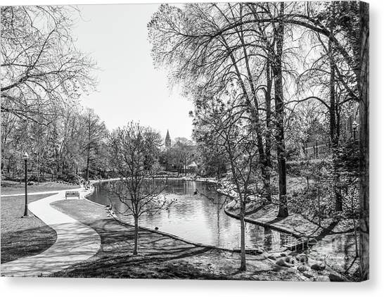 Degrees Canvas Print - Ohio State University Mirror Lake by University Icons