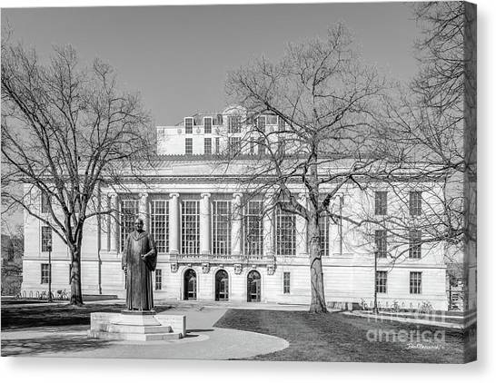 Graduate Degree Canvas Print - Ohio State University Thompson Library by University Icons
