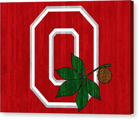 Ohio State University Canvas Print - Ohio State Wood Door by Dan Sproul