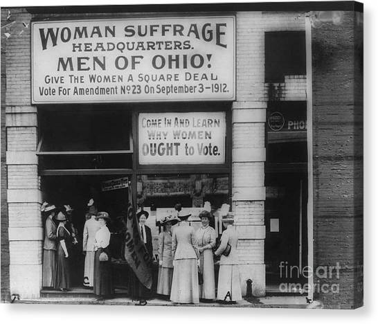Womens Rights Canvas Print - Ohio Suffrage Headquarters In Cleveland by Padre Art