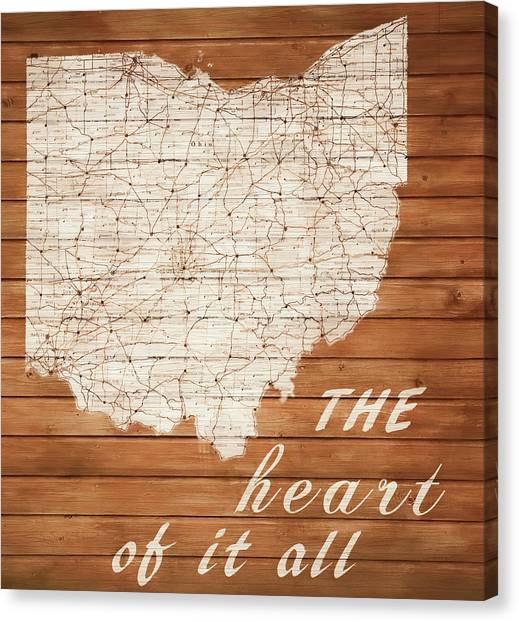 University Of Cincinnati Canvas Print - Ohio The Heart Of It All by Dan Sproul